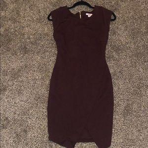 Burgundy bar III dress small